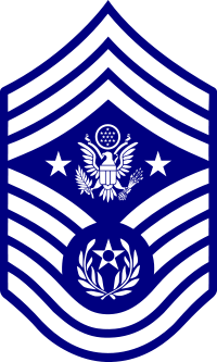 Rank badge of a Chief Master Sergeant Of The Air Force