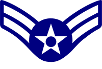 Rank badge of a Airman First Class