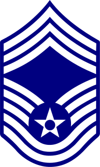 Rank badge of a Chief Master Sergeant