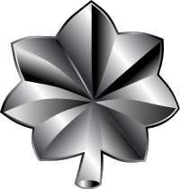 Rank badge of a Lieutenant Colonel