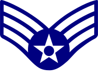 Rank badge of a Senior Airman