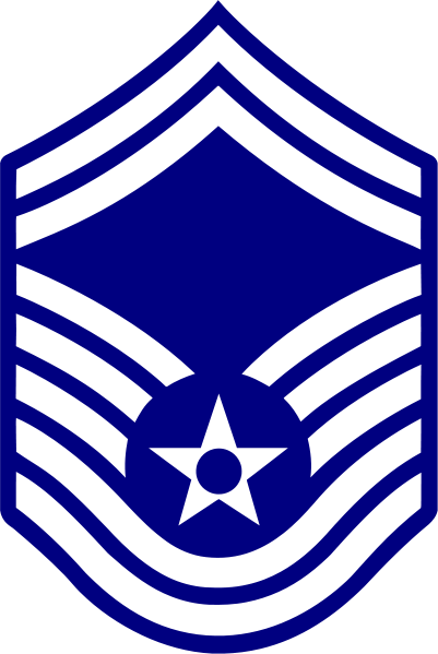 Rank badge of a Senior Master Sergeant
