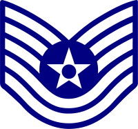 Rank badge of a Technical Sergeant
