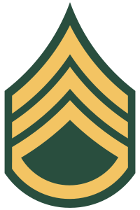 Rank badge of a Staff Sergeant