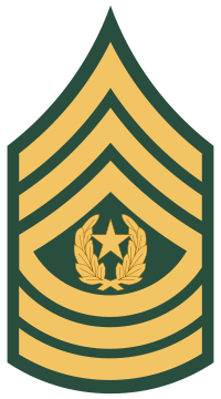 Rank badge of a Command Sergeant Major