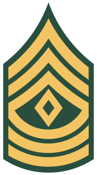 Rank badge of a First Sergeant