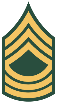 Rank badge of a Master Sergeant