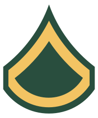 Rank badge of a Private First Class