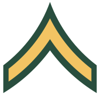 Rank badge of a Private Second Class