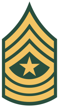 Rank badge of a Sergeant Major