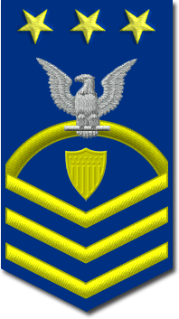 Rank badge of a Master Chief Petty Officer Of The Coast Guard