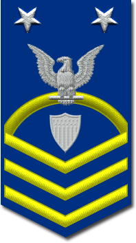Rank badge of a Command Master Chief Petty Officer