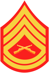Rank badge of a Gunnery Sergeant