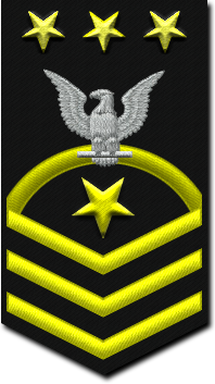 Rank badge of a Master Chief Petty Officer Of The Navy